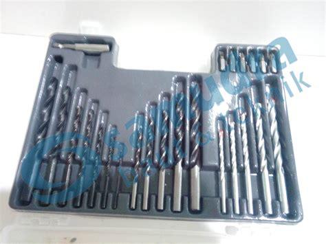 Mata Bor Besi 1 Set jual paket mesin bor bosch gsb 550 dan mata bor set besi
