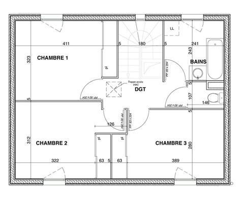 plan maison 100m2 4 chambres cuisine plan maison pi 195 168 ces plan maison 4 chambres