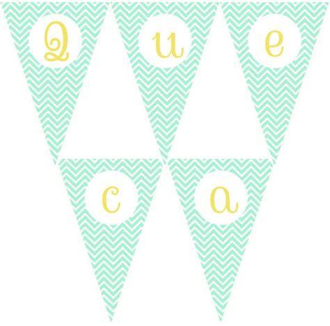 como imprimir banderines con nombres imprimible gratis de banderines chevron mint con todas las letras en may 250 sculas y min 250 sculas