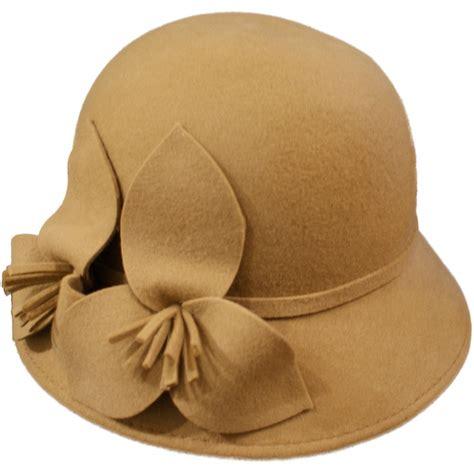 accessories womens wool felt vintage cloche hat