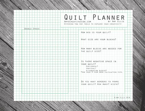 printable quilt planner quilt planner amy s creative side