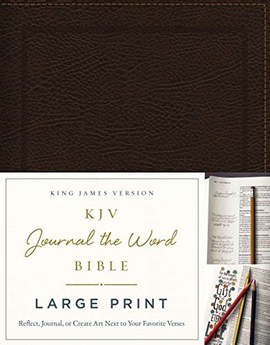 notes net bible second edition bonded leather brown books kjv journal the word bible large print bonded leather