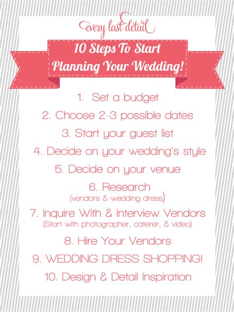 Wedding Steps by Budget Wedding Ideas Shell Brown Meant For You