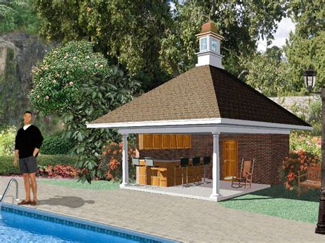 pool house plan plan 006p 0002 garage plans and garage blue prints from the garage plan shop