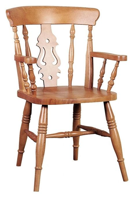 Raw Pine Solid Oak Fiddle Back Carver Chair Dining Chairs Oak Carver Dining Chairs
