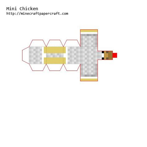 Papercraft Chicken - papercraft mini chicken minecraft chicken