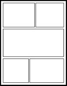 comic book layout template comic template for students template comic