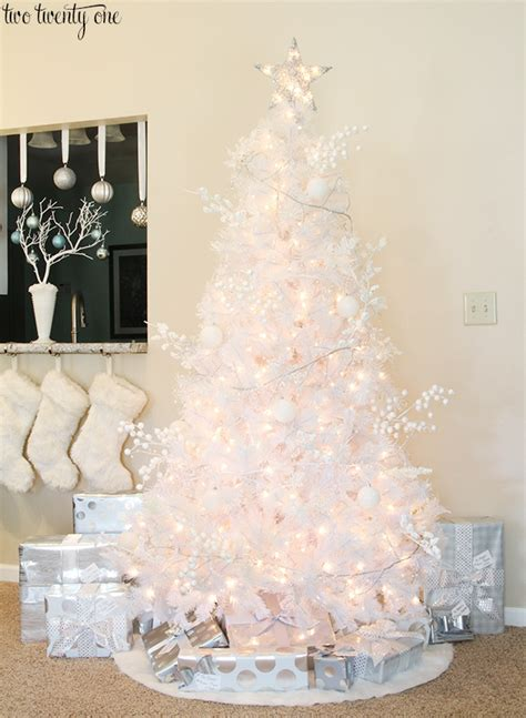tree with white and silver decorations white tree with silver decorations rainforest