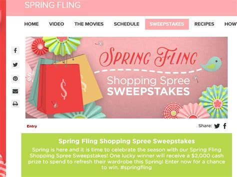Hallmark Sweepstakes 2016 - hallmark channel s spring fling shopping spree sweepstakes sweepstakes fanatics