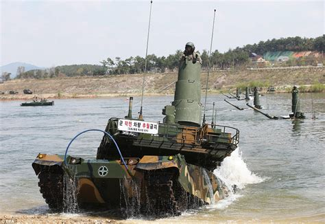 Water Panther 2 3 south korea tests out its fleet of black panther tanks in