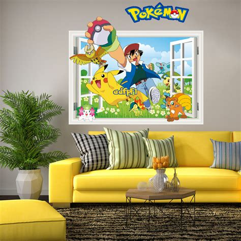 pokemon home decor 3d hot pokemon wall stickers for kids rooms home