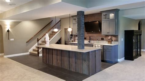 basement remodel kansas city kansas city basement remodeling ideas front modern with sliding barn doors contemporary dishwashers