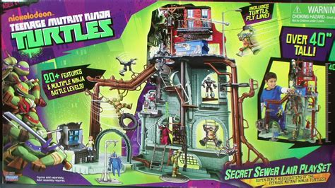 Nickelodeon Teenage Mutant Ninja Turtles Secret Sewer Home Playset