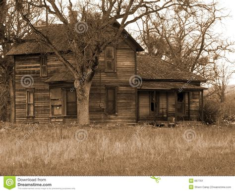 Downs Haunted House by Run Farm House Stock Image Image 667761
