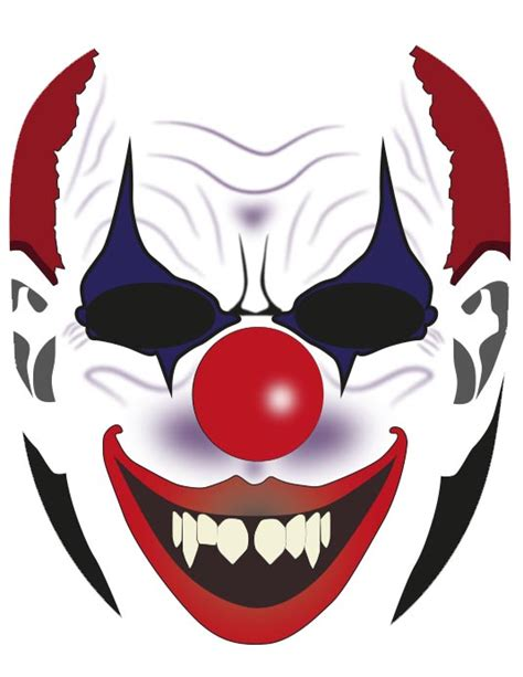 clown mask template mask craft craftshady craftshady
