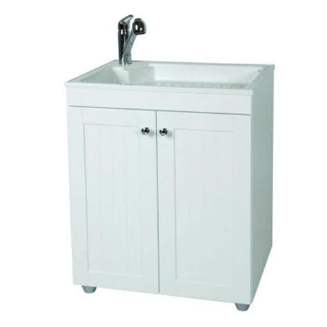 glacier bay 27 5 in w x 21 8 in d composite laundry sink