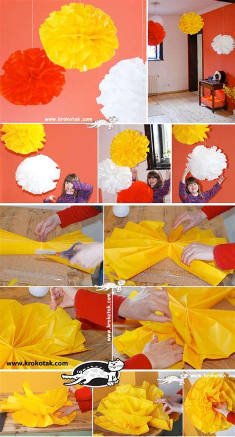 Make Tissue Paper Balls - krokotak tissue paper balls