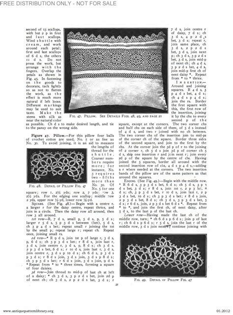 antique pattern library priscilla apl b ja034 priscilla tatting book no 2 page 22