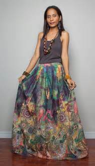 Navy Blue And White Drapes Floor Length Skirt Boho Maxi Skirt Feel Good By Nuichan