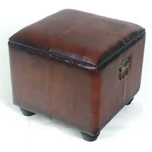 Brown Storage Ottoman Shop International Caravan Brown Square Storage Ottoman At Lowes