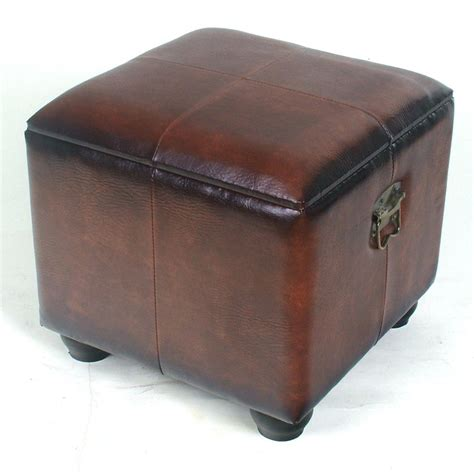 Square Storage Ottoman Shop International Caravan Brown Square Storage Ottoman At Lowes