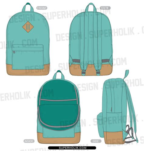 backpack template fashion design templates vector illustrations and clip