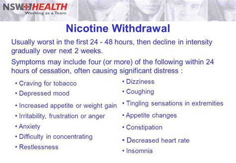 Detox Symptoms Tingling by Management Of Nicotine Dependent Inpatients An Evidence