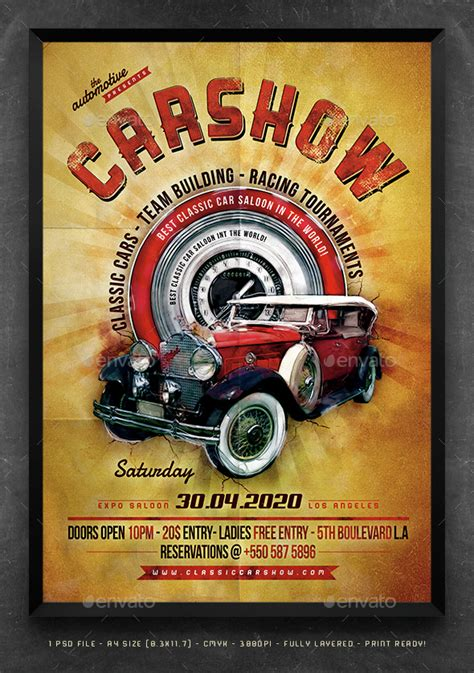 Auto Poster by Classic Car Poster Template Photoshop Car Posters And Cars