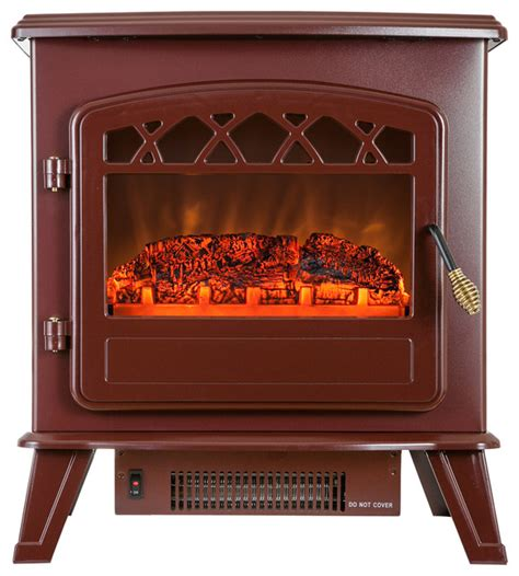 portable freestanding electric fireplace heater