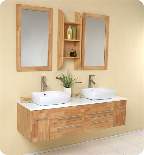 2 sink bathroom vanity fresca bellezza wood vessel sinks vanity