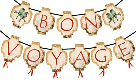 printable bon voyage banner bon voyage vintage chinese lanterns instant printable party