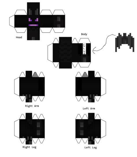 Ender Papercraft - papercraft enderdragon skin