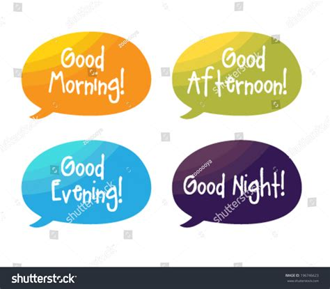imagenes de good morning good afternoon speech bubbles good morning good afternoon stock vector