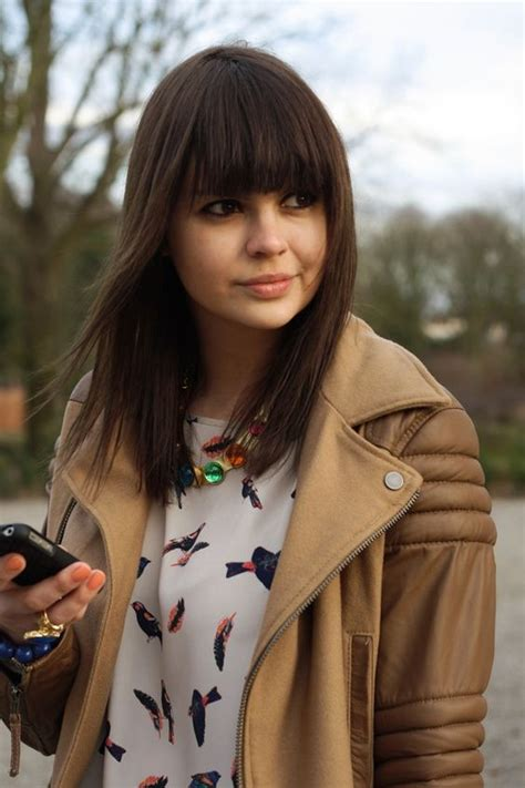 hair on pinterest blunt bangs bangs and nashville fashion shoulder length hair with blunt bangs hair pinterest
