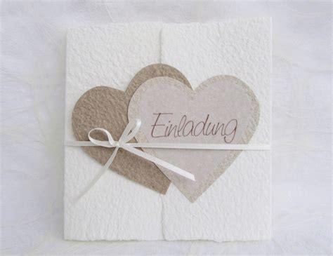 Hochzeitseinladungen Mit Herz by Handgesch 246 Pfte Hochzeitseinladung Quot Herzen Quot