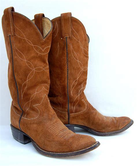 suede cowboy boots brown suede tony lama s vintage cowboy boots hold