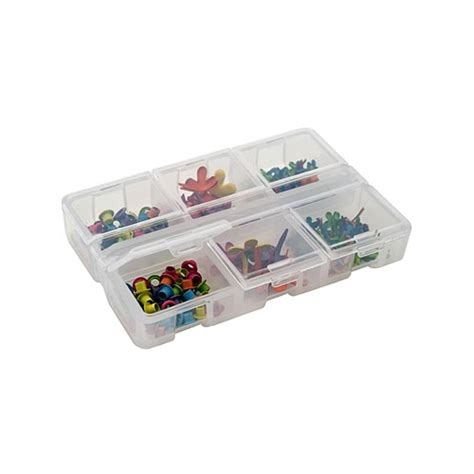 sectioned storage containers iris six compartment flip lid storage case in divided