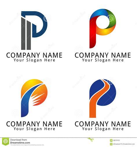 Stock Image: Elegant Letter P Concept Logo. Image: 58078161 P Design Logo