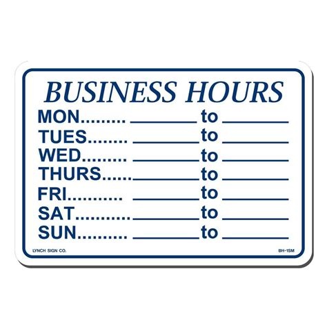 lynch sign 10 in x 7 in blue on white plastic business