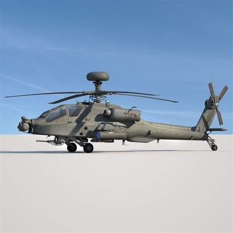 Kaos 4d Versi 6 Helicopter 4d apache longbow helicopter 3d model