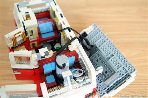 lego volkswagen inside cer 10220 mod opened this is not my creation i