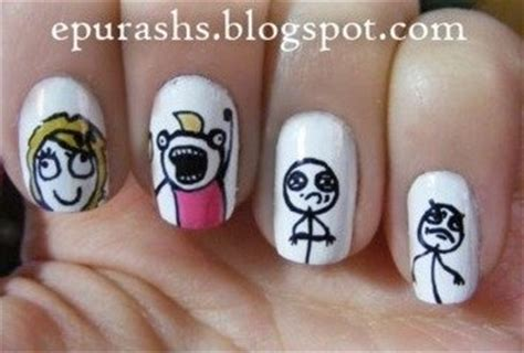 Meme Nails - paint all the nails meme nails a creative nail designs
