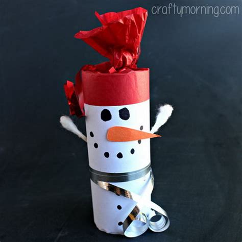 Snowman Toilet Paper Roll Craft - winter craft paper roll snowmen memes