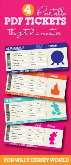 printable gift tickets printable ticket to disneyworld disneyland customizable
