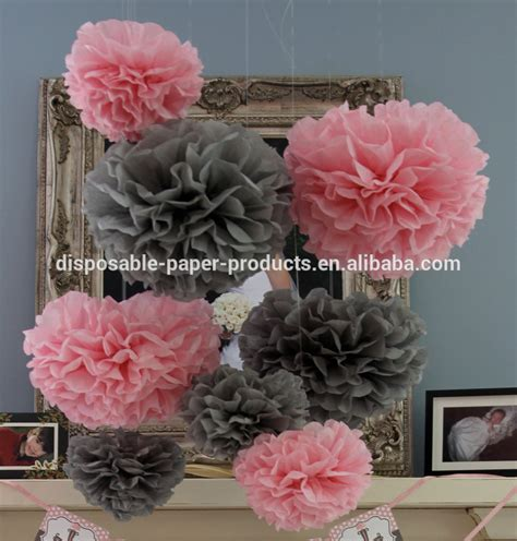 Pink And Grey Decorations by Pink Theme Ideas Tissue Paper Pom Poms Honeycomb