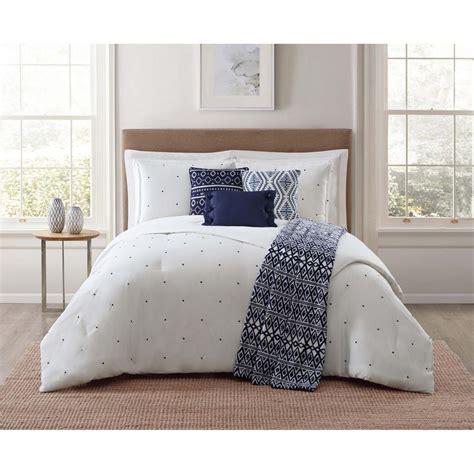 jennifer adams bedding brooklyn loom sand washed cotton king comforter set in