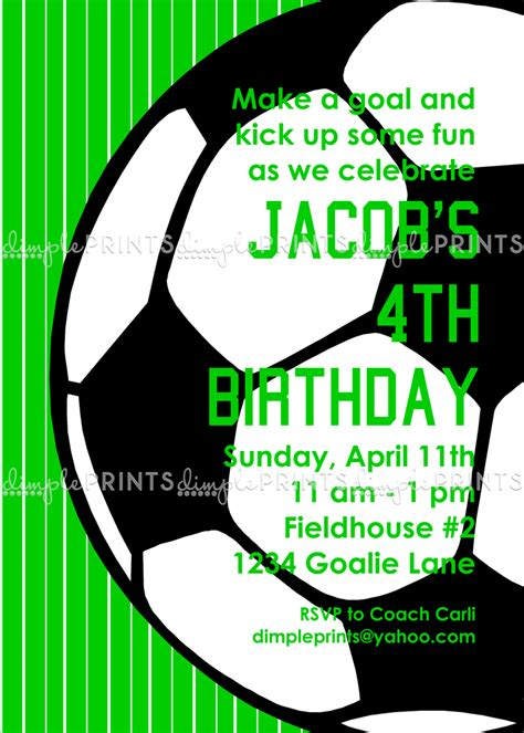 soccer boy printable invitation dimple prints shop