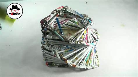 cara membuat montase dari majalah cara membuat keranjang dari majalah bekas youtube