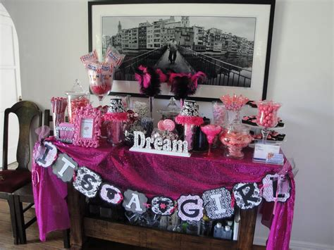 and black baby shower decorations black and pink baby shower decorations home theme