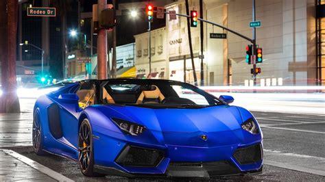 Lamborghini Aventador Matte Blue Lamborghini Aventador Lp700 4 Roadster Matte Blue Hd Wallpaper
